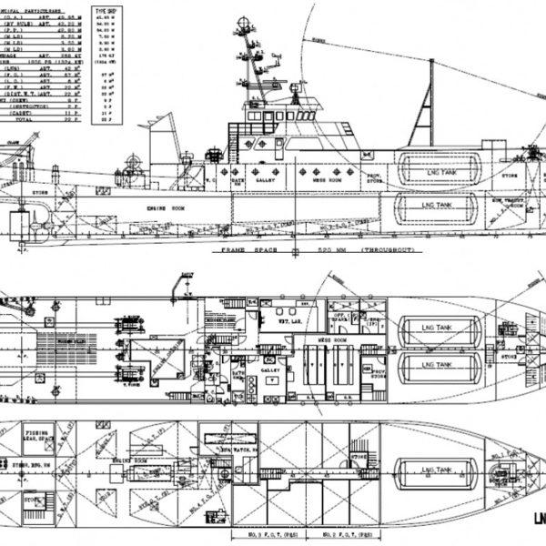 LNGを燃料として利用する漁船の実用化